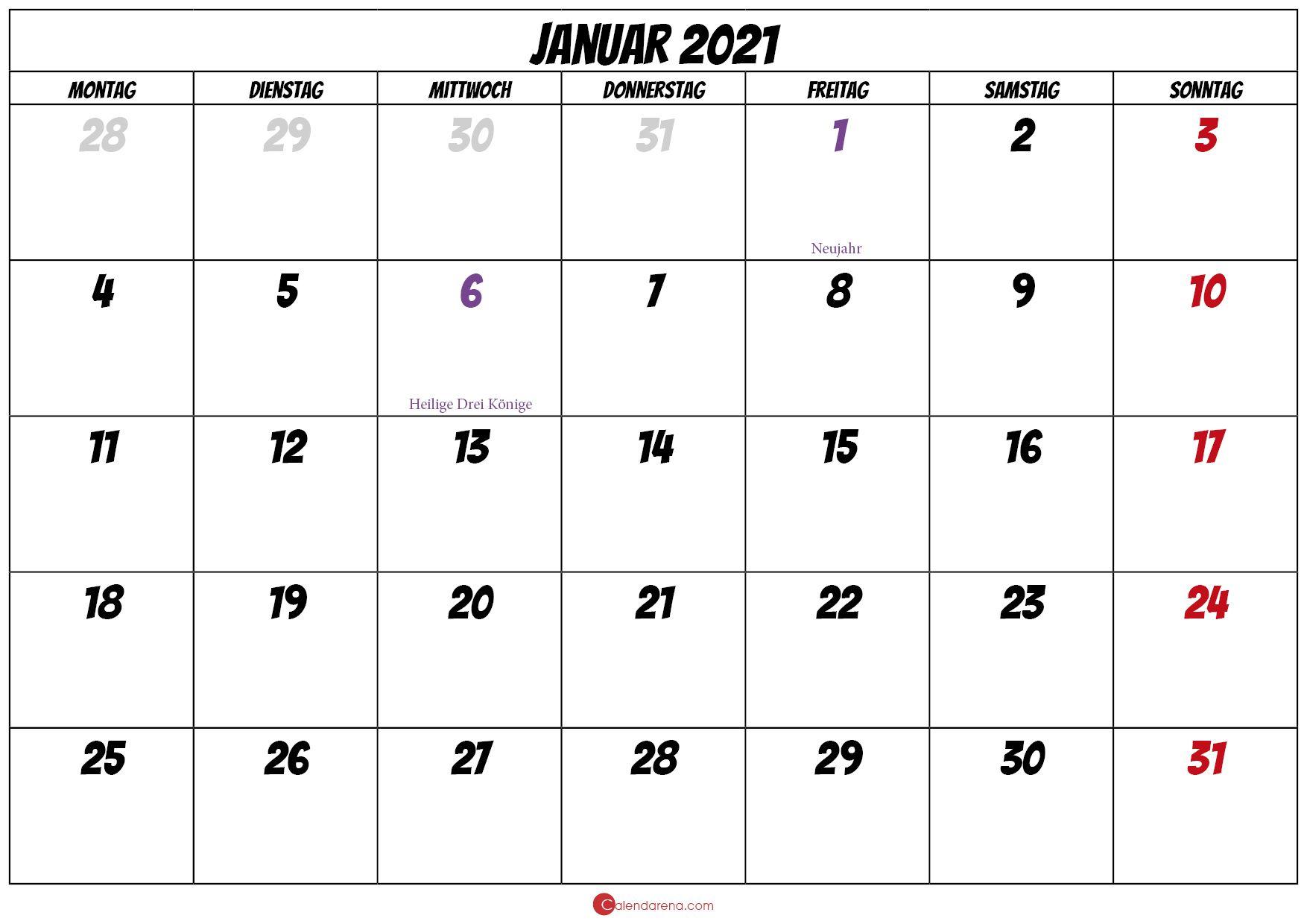 Kalenderblatt 2021 Kinder  Kalender 2020 Zum Ausdrucken