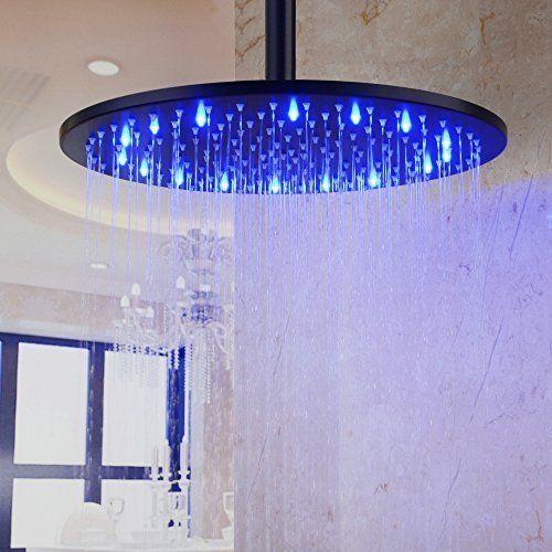 Hiendure 12 Inch Stainless Steel Round Rain Shower Head With 3