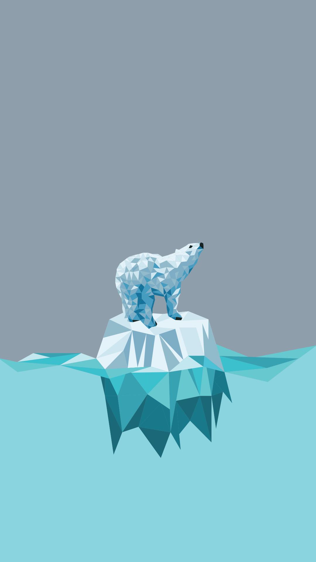 Minimal Iphone Wallpaper Polar Bear With Images Geometric