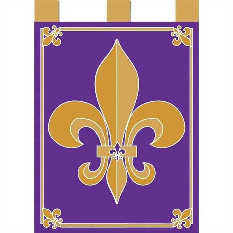 Purple Gold, Garden Flags, Lsu, Fleur De Lis
