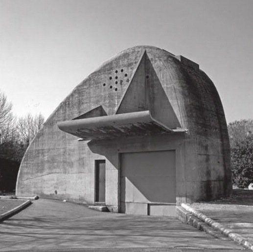 Caseta de recogida de basuras domésticas para la 'Unité d'Habitation' de Marsella, 1951-52. Diseño de Iannis Xenakis