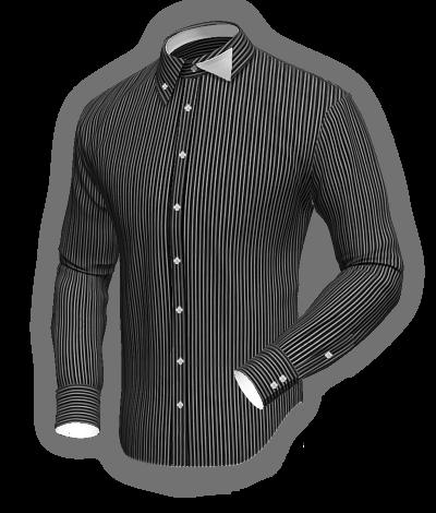 a85e7465489bd Camisa negra con rayas blancas