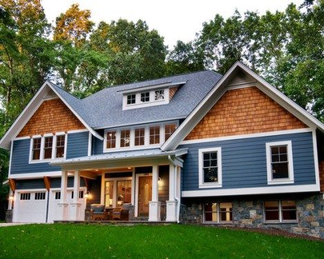 Split Level Homes Home Designs Stylendesigns House Exterior Blue Craftsman Exterior Exterior House Colors