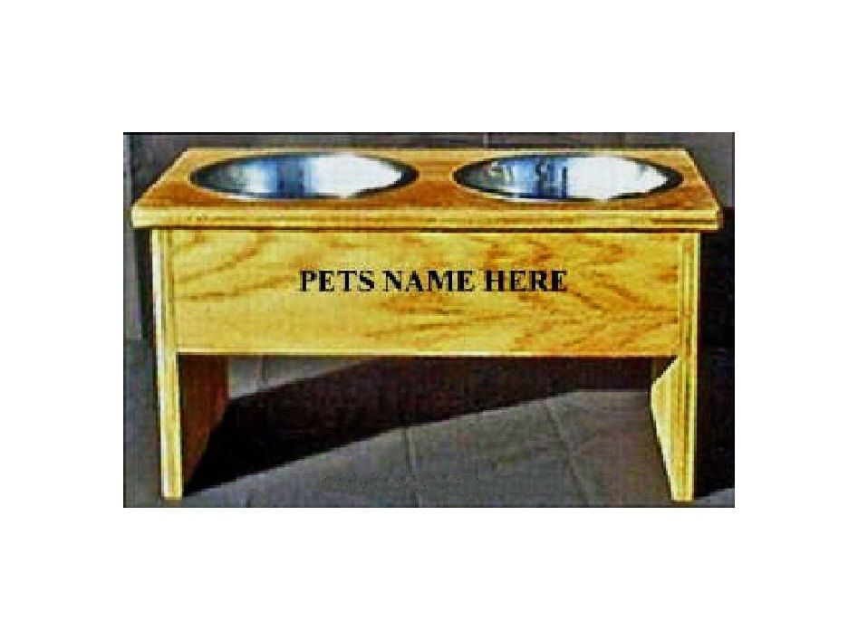 Elevated 12 inches tall dog bowl feeder no cost by