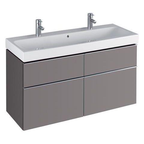 keramag icon waschtischunterschrank mit mittigem siphonausschnitt f r doppelwaschtisch front und. Black Bedroom Furniture Sets. Home Design Ideas