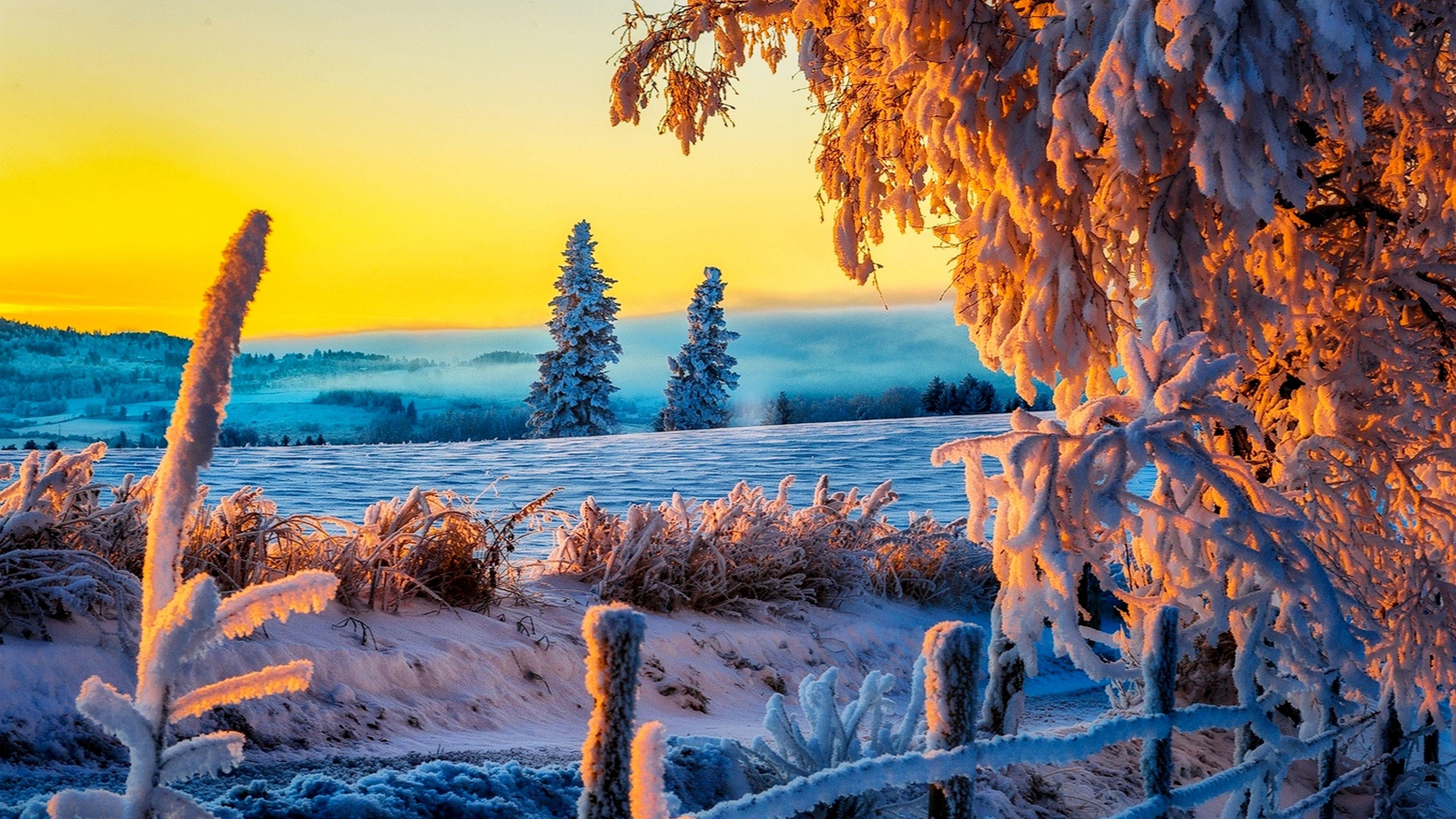4k Backgrounds Is Cool Wallpapers Winter Landscape Sunset Landscape Landscape