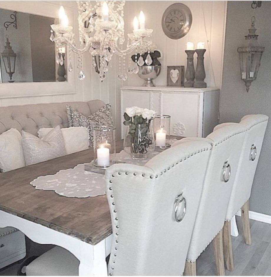 21 Corner Dining Sets Designs Decorating Ideas: 21 Rustic Glam Dining Room Makeover Ideas
