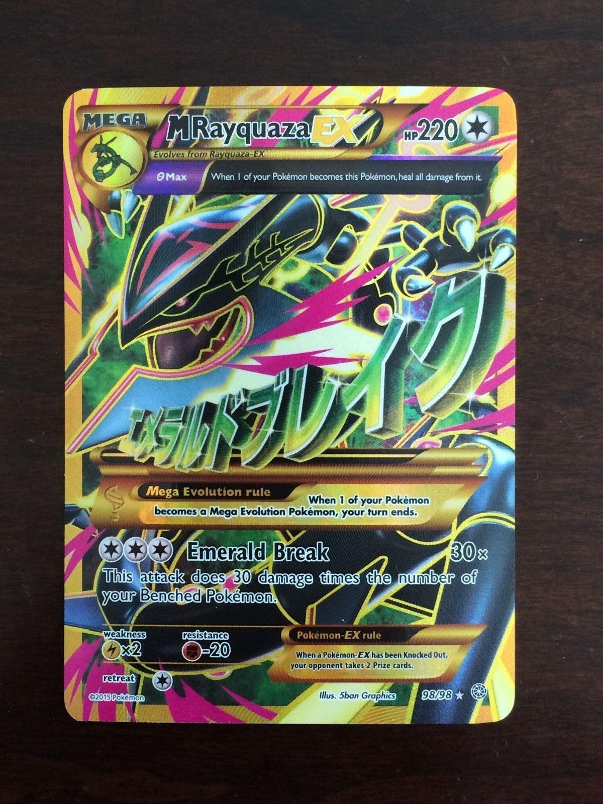 Pokemon Card: Mega M RAYQUAZA EX 98/98 Ancient Origins ...