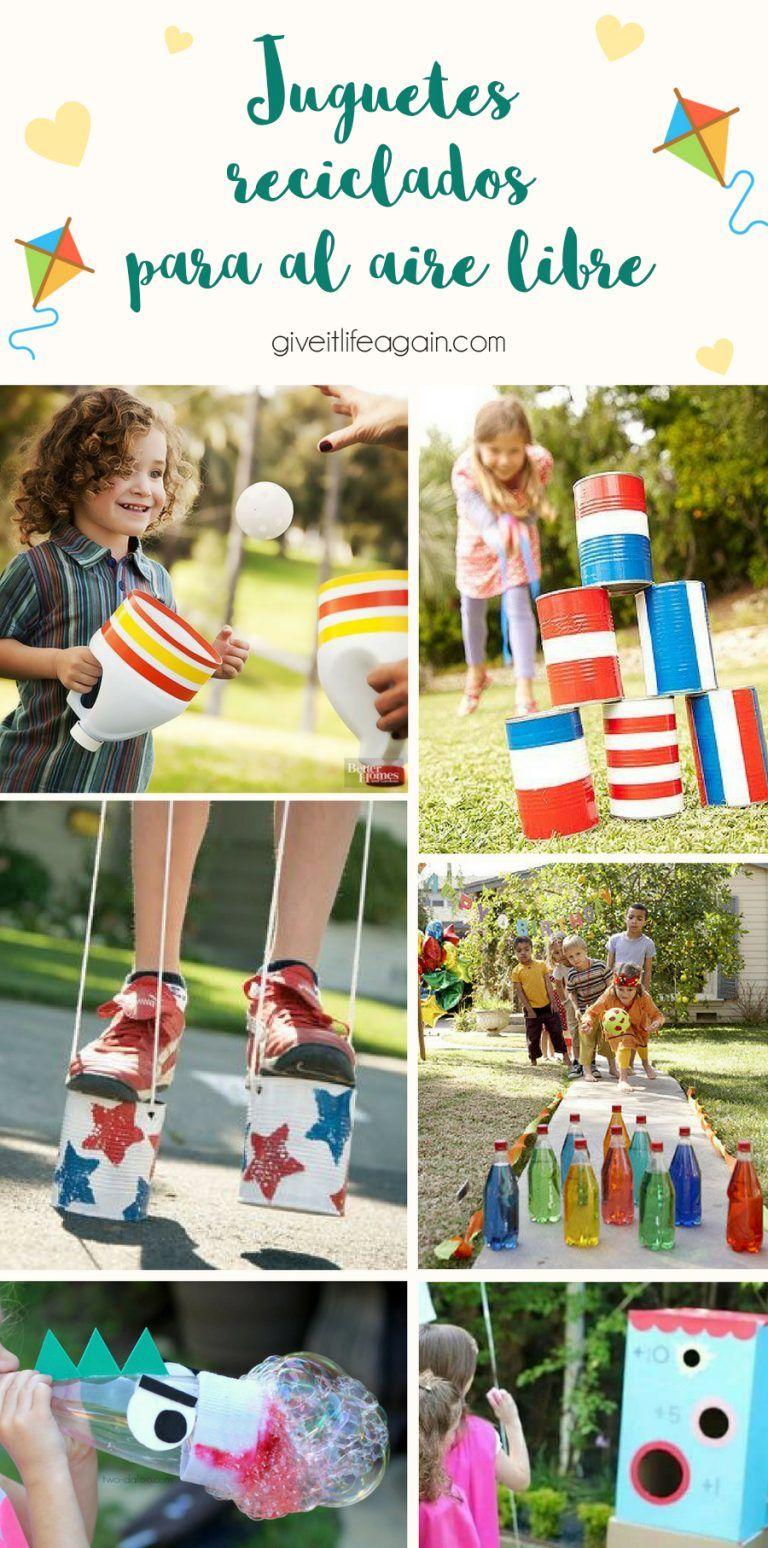Juguetes Reciclados Para Disfrutar Al Aire Libre Juegos Para