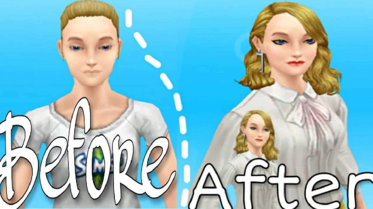 Sebelum Vs Sesudah Sims Di Makeover Sim Cas The Sims Freeplay In 2020 Sims Makeover How To Look Pretty
