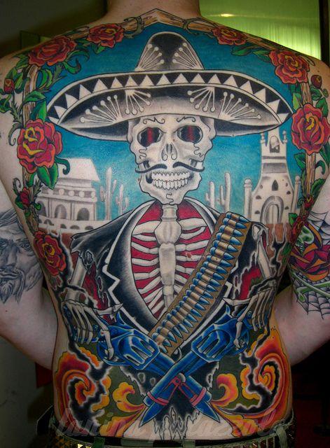 Mexikaner Mexican Skull Mariachi Tattoo Von Tanina Palazzolo Mexican Tattoo Mexican Skulls Tattoos