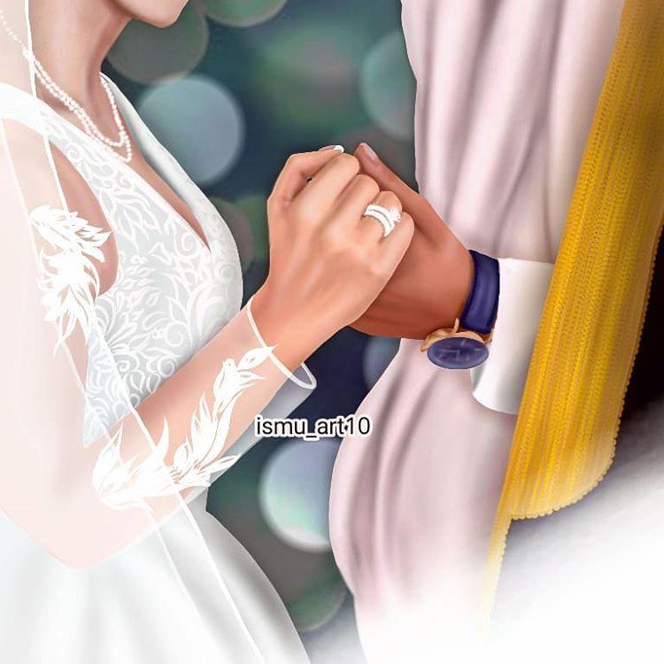 رسامة رقمية On Instagram Wedding عروس زفاف لايك كومنت فولو عمان السعوديه السعودية العراق طلب دايركت Couples Images Fashion Couples
