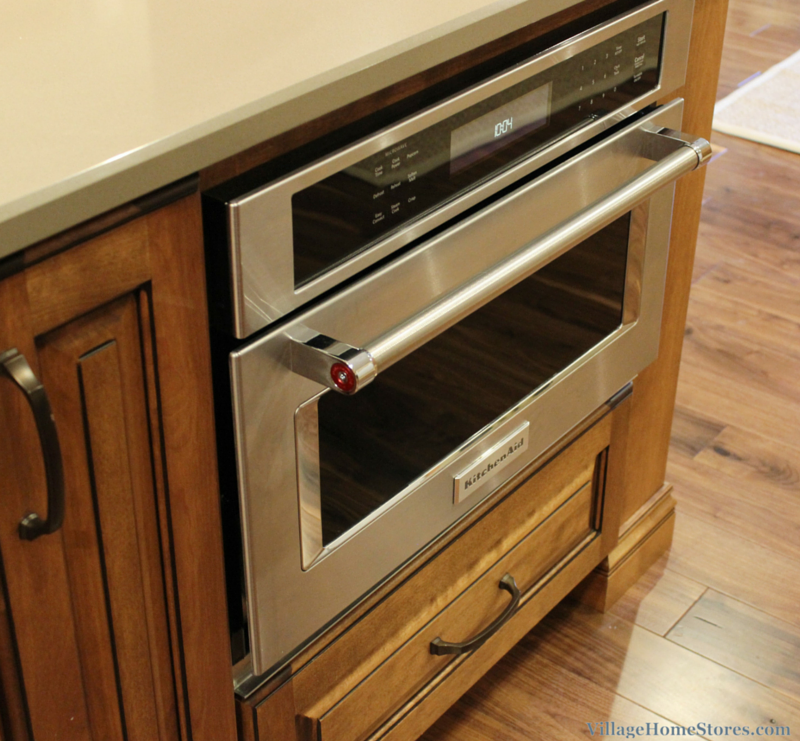 Kitchenaid Built In Convection Microwave Installed Into A Large Kitchen Island Villagehomes