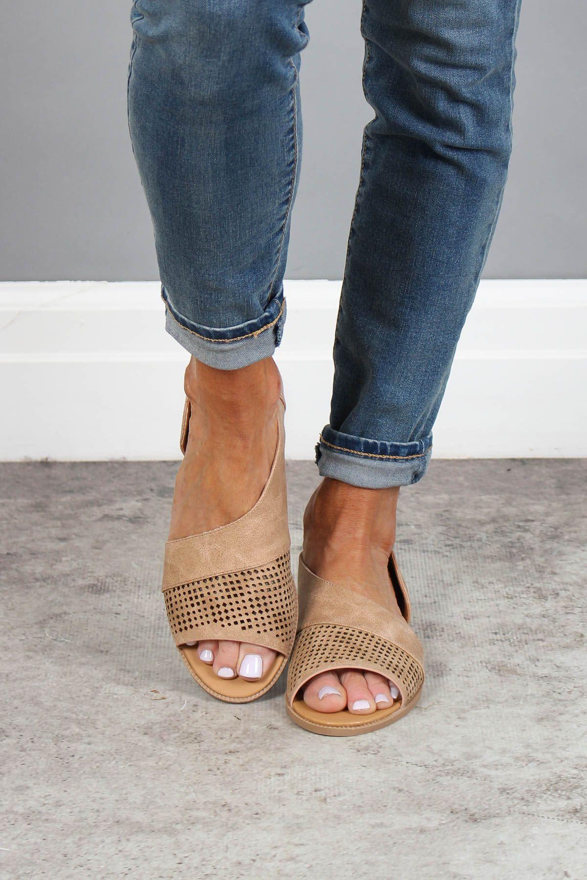 Open Toe Mesh Detailed Sandals | Shoes
