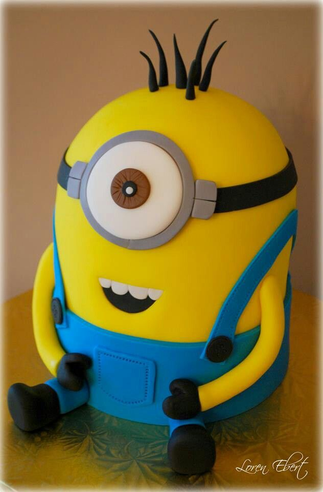 Prime How To Make A Minion Cake Despicable Me Is A Great Film And Kids Personalised Birthday Cards Paralily Jamesorg