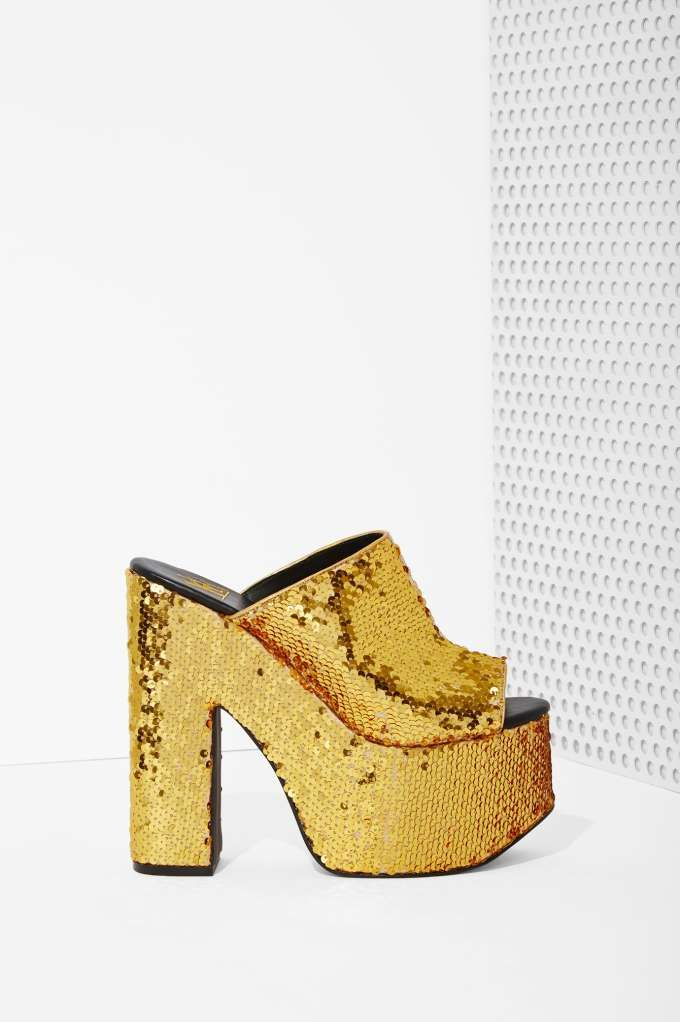 YRU Dream Sequin Platform Gold | Gold shoes, Shoes, Shoe boots
