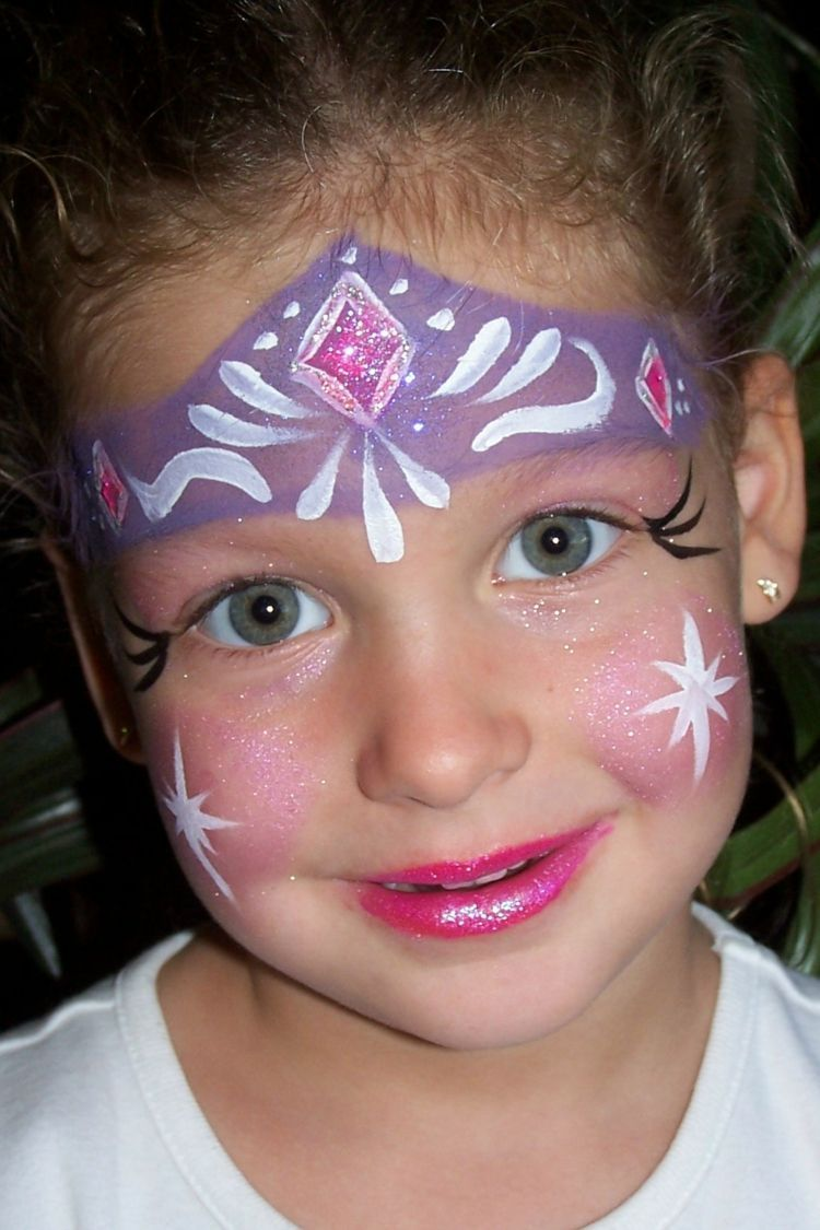 Eiskonigin Prinzessin Elsa Gesicht Make Up Karneval Kind Kinder Fur Kinderschminken M Gesichtsbemalung Prinzessin Kinder Schminken Einfache Gesichtsmalerei