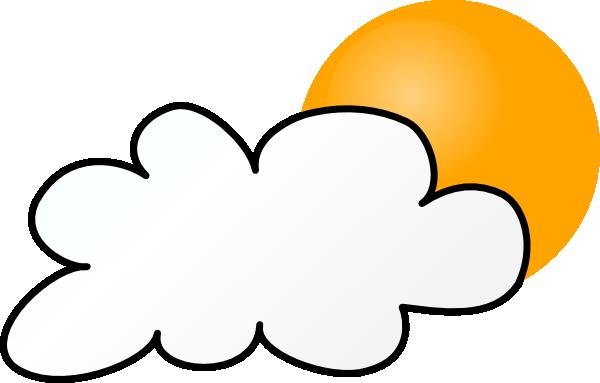 Cloud Sun Free Clip Art Clip Art Cloudy Weather