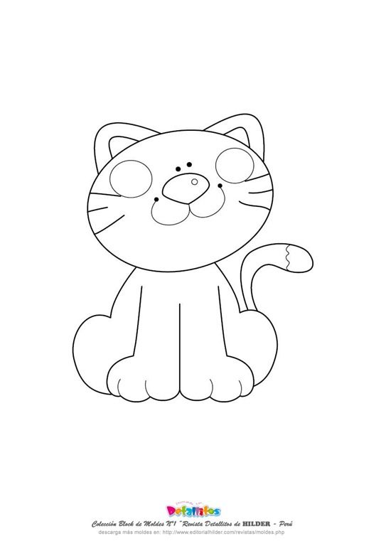 molde-gato-eva%255B4%255D.jpg (image) | abc | Pinterest | Molde ...
