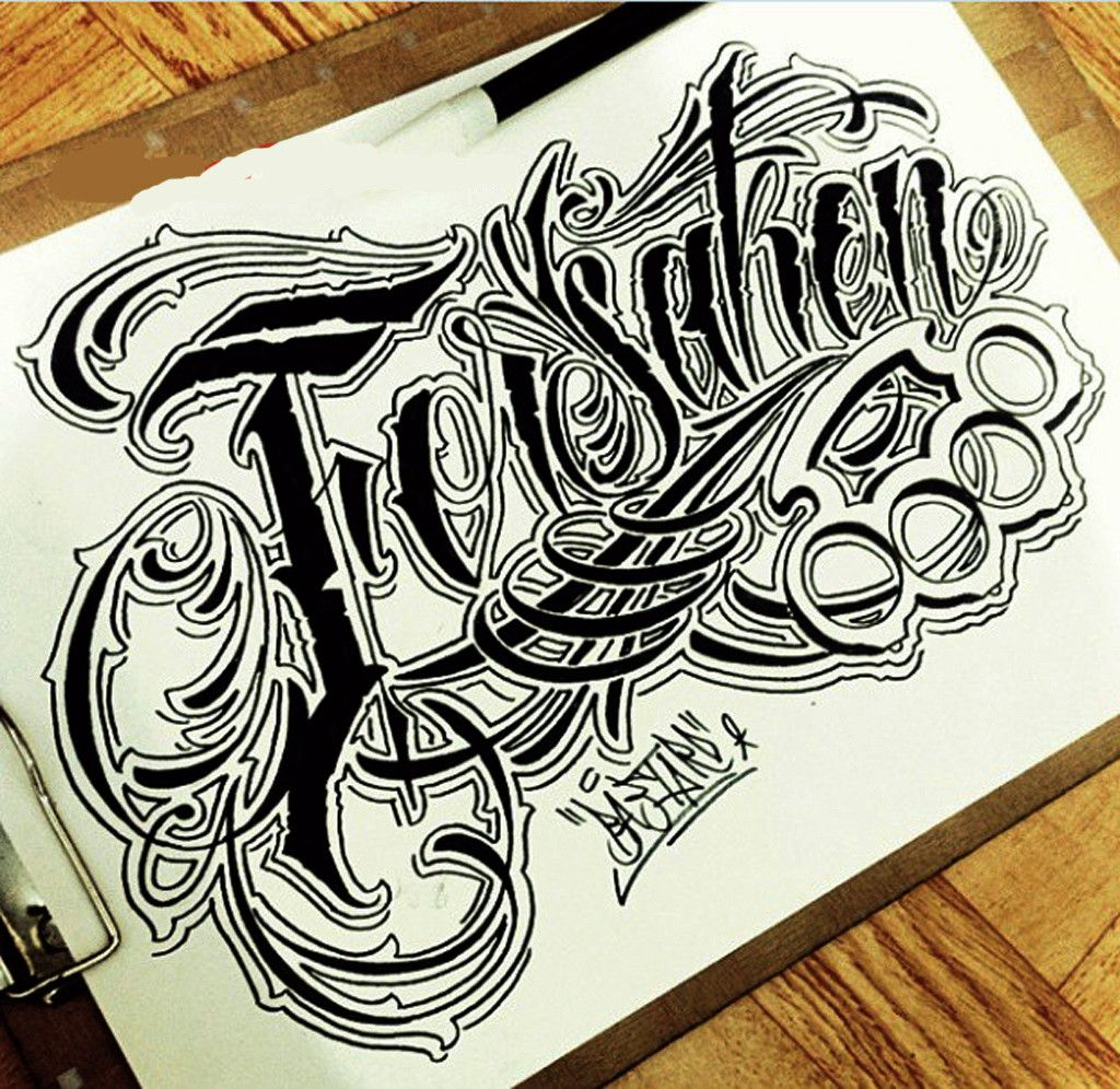 Sketch Letter Chicano Font Style #Lettering #Design
