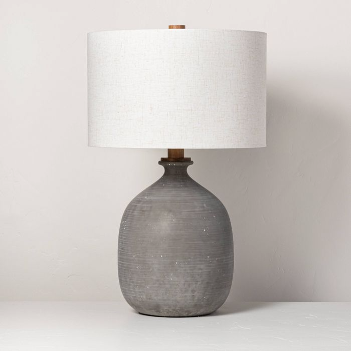 Resin Table Lamp Gray Includes Led Light Bulb Hearth Hand With Magnolia In 2021 Grey Table Lamps Table Lamp Lamp