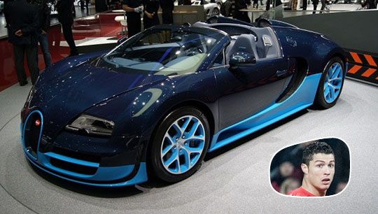 a bugatti veyron is the one for current 39 world player of the year 39. Black Bedroom Furniture Sets. Home Design Ideas