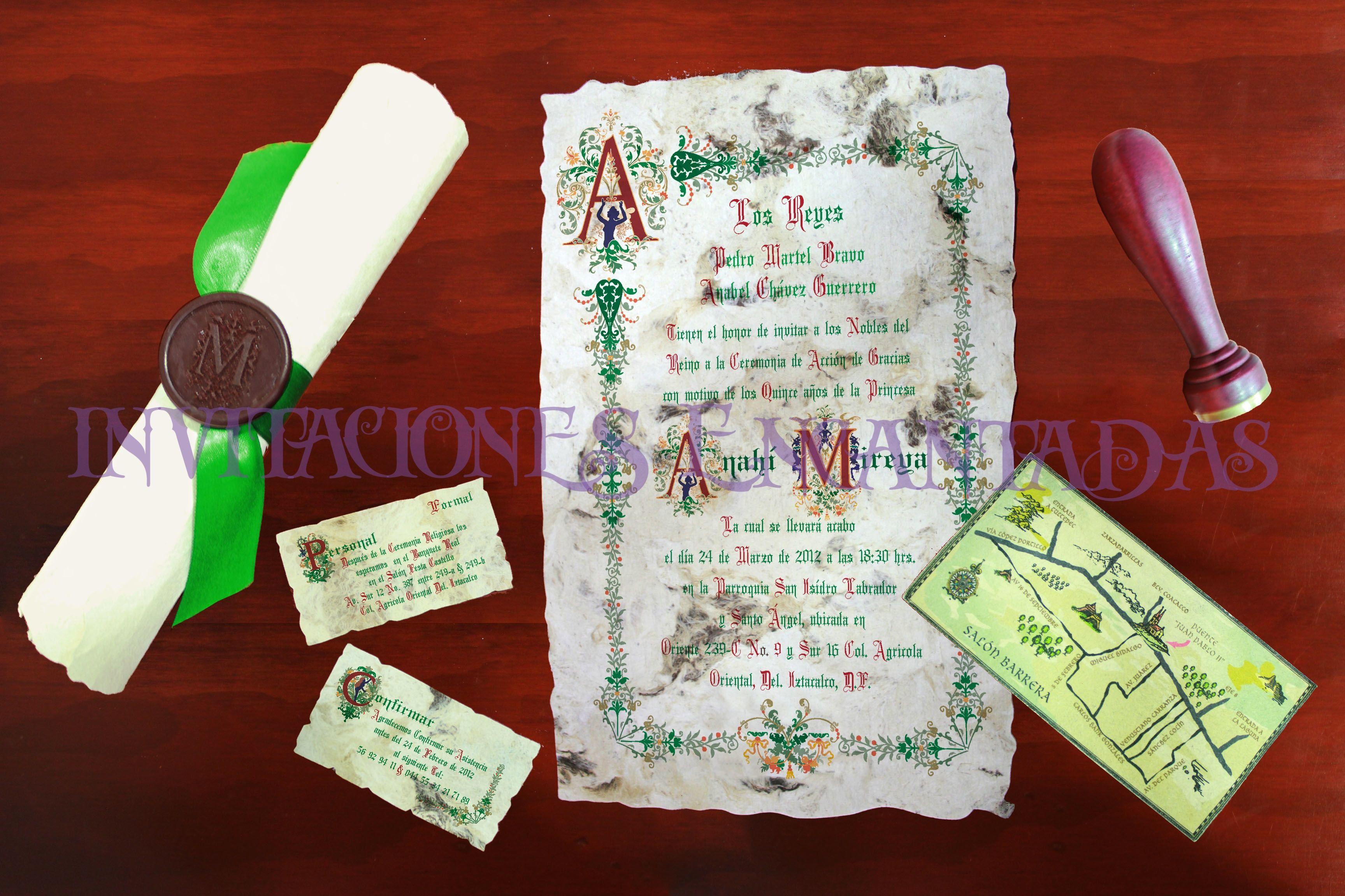Invitaciones Medievales 15 años y Boda Medieval Papiro Enrollable ...