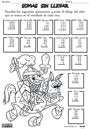 010501 Sumas sin llevar 3 dígitos y 3 Sumandos p | Matemáticas ...