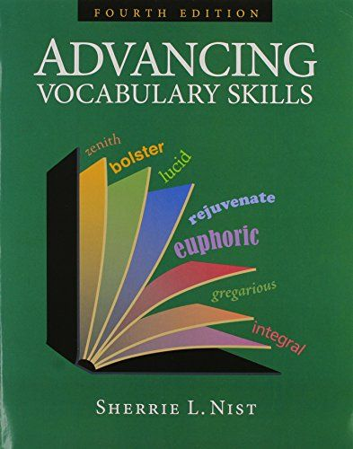 Advancing Vocabulary Skills Free Download By Sherrie L Nist Vocabulary Skills Vocabulary Word Parts