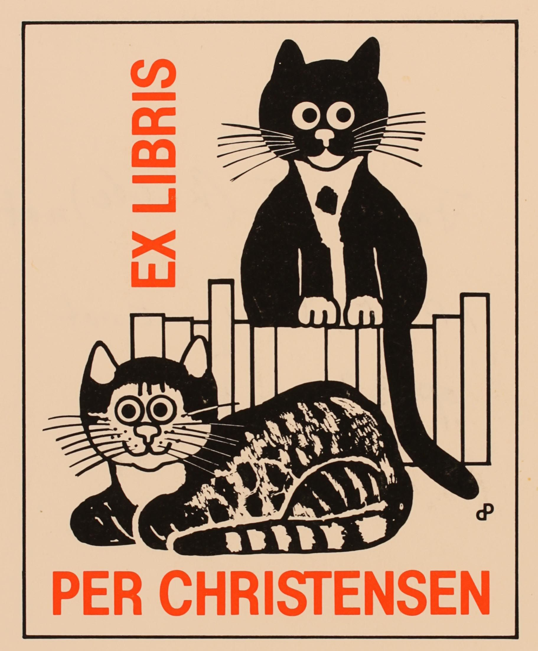Ex libris Per Christensen, created by himself (1985)