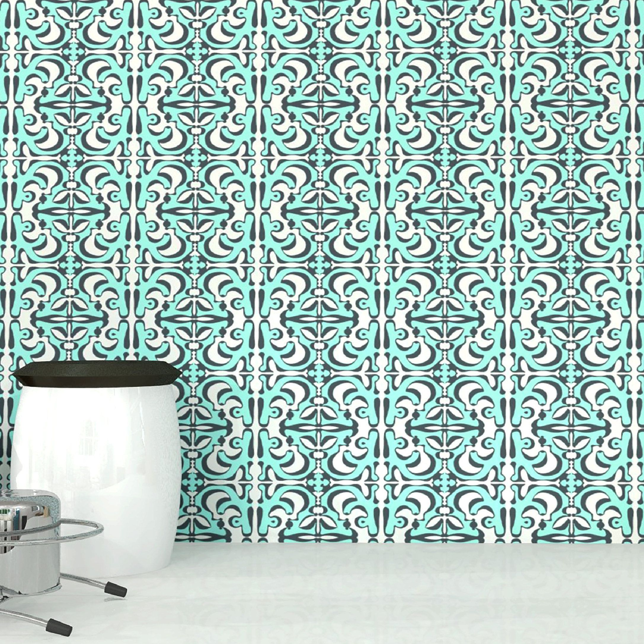 Sunny Side Aqua Ink Peel And Stick Removable Wallpaper 8 X10 Quick Ship Samples Self Adhesive Wall Coverings Removable Wallpaper Traditional Wallpaper