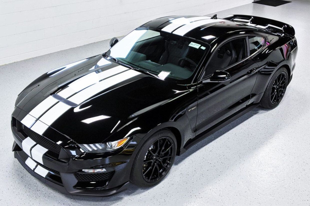 For Sale 2020 Ford Mustang Shelby Gt350 Shadow Black 5 2l Voodoo V8 6 Speed 9 Miles Stangbangers Em 2020