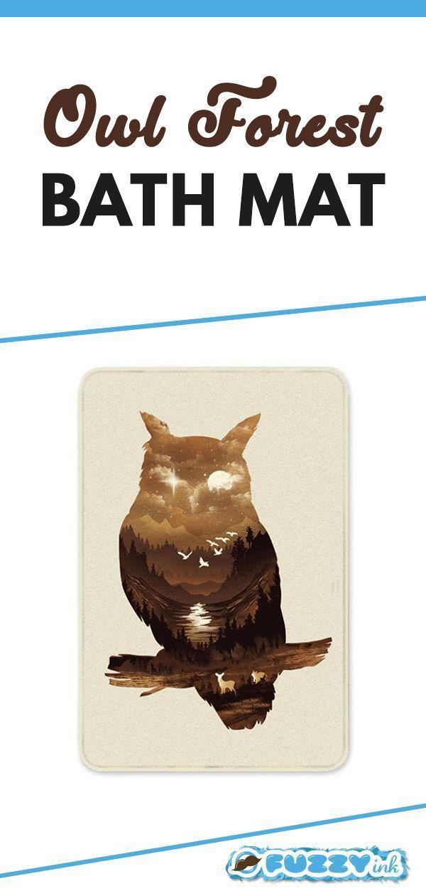 Owl Forest Bath Mat 24