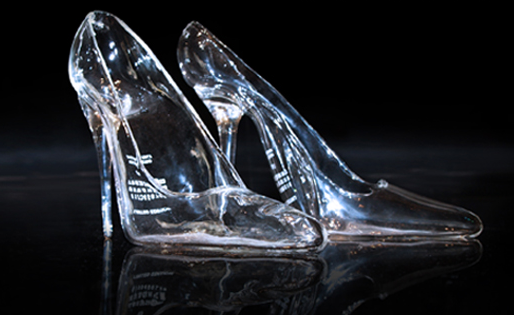 Cinderella much?   Glass shoes, Glass