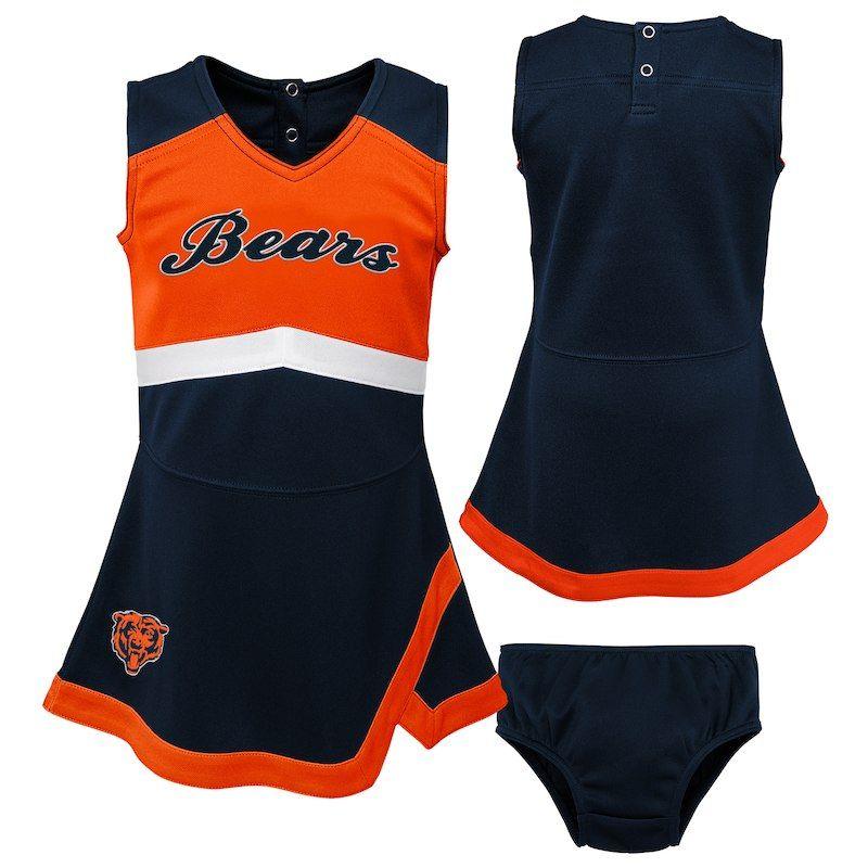 san francisco f7fd1 cc4b7 Chicago Bears Girls Preschool Cheer Captain Jumper Dress ...