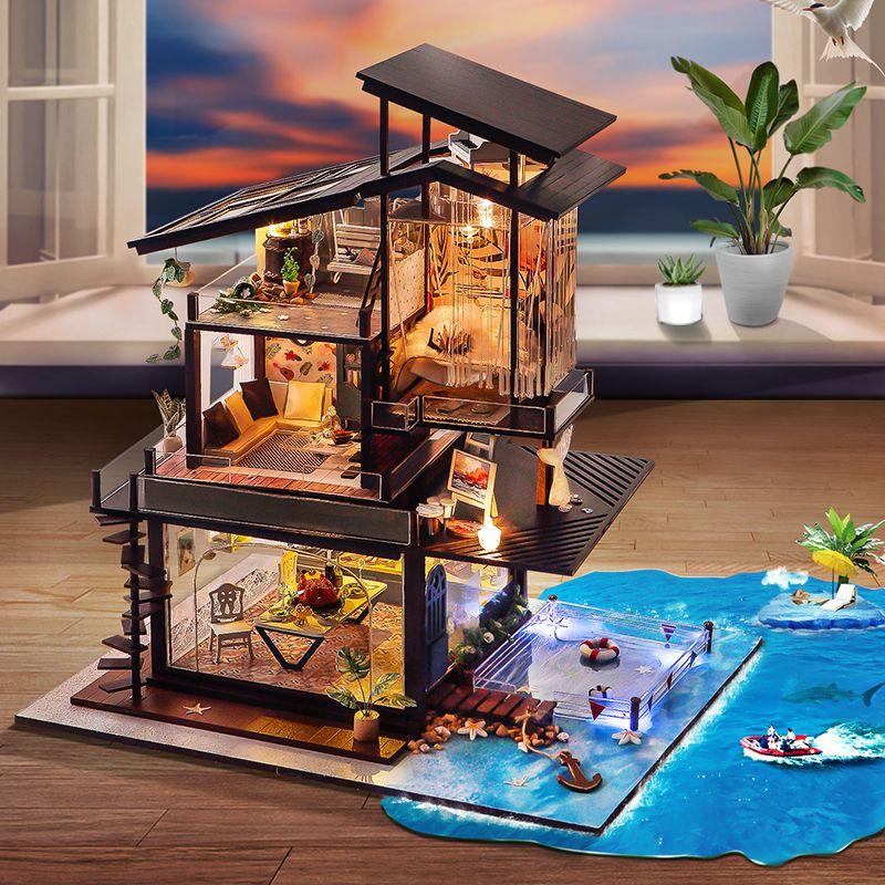 Mô Hình Biệt Thự Biển Bằng Gỗ Handmade – Thế Giới Tí Hon   mô hình ...