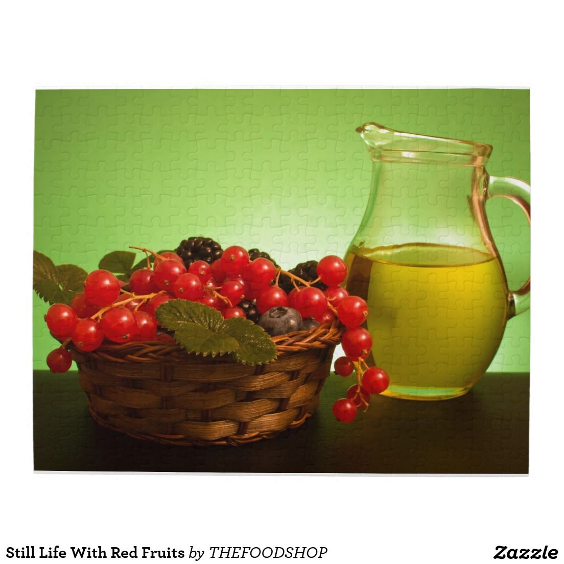 #StillLife With #Red #Fruits #Puzzle #wine #food #foodphotography #Zazzle