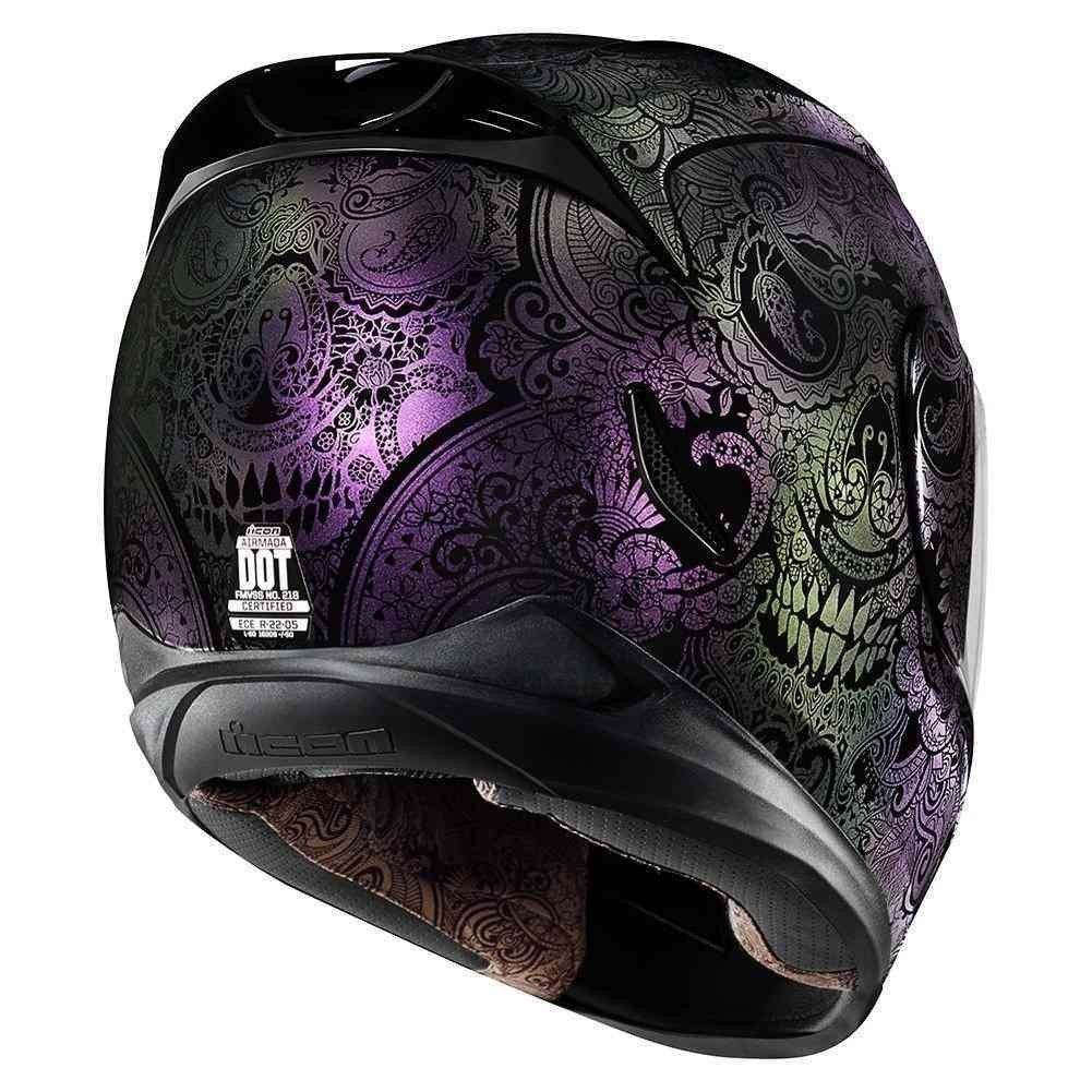 Icon Airmada Chantilly Opal Womens Motorcycle Helmets