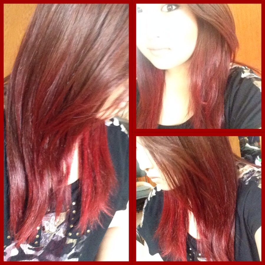 I dyed the bottom half of my hair red <3 | || oh rupunzel ...