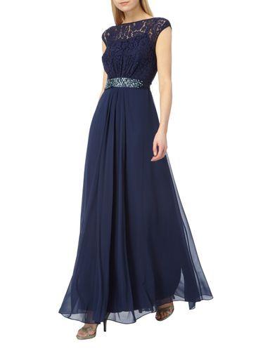 Coast Abendkleid Mit Oberteil Aus Floraler Spitze In Blau Turkis Online Kaufen 9579955 P C Online Shop Kleider Abendkleid Blaues Kleid