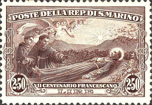 1928 - 7º centenario della morte di San Francesco d'Assisi - Morte di San Francesco