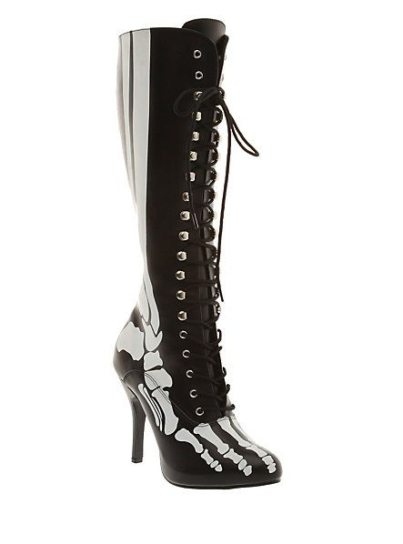 Funtasma By Pleaser X-Ray Knee-High Boots | Hot Topic