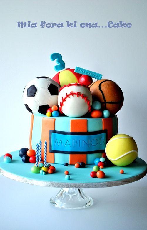 Enjoyable Mia Fora Ki Ena Cake With Images Sports Birthday Cakes Funny Birthday Cards Online Inifodamsfinfo
