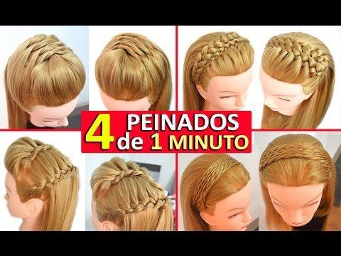 peinados faciles y rapidos y bonitos para pelo chino con coletas con trenzas youtube