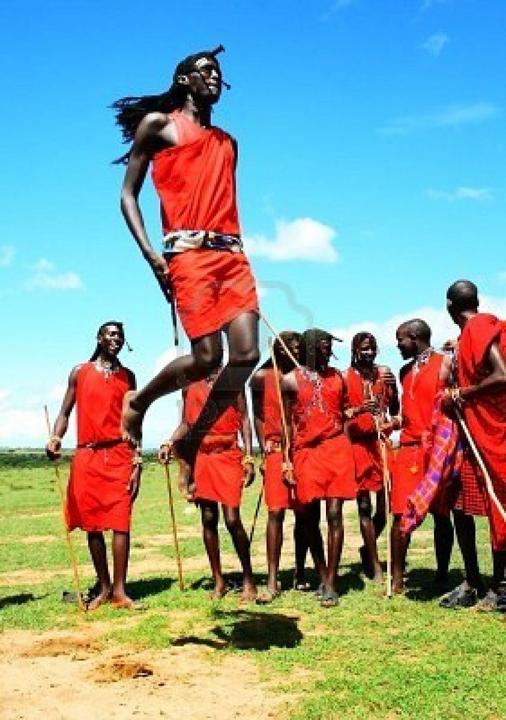 People Of Tanzania African Traditional Jumps Masai Mara Warriors - Maasai tribe wild animals attend wedding kenya