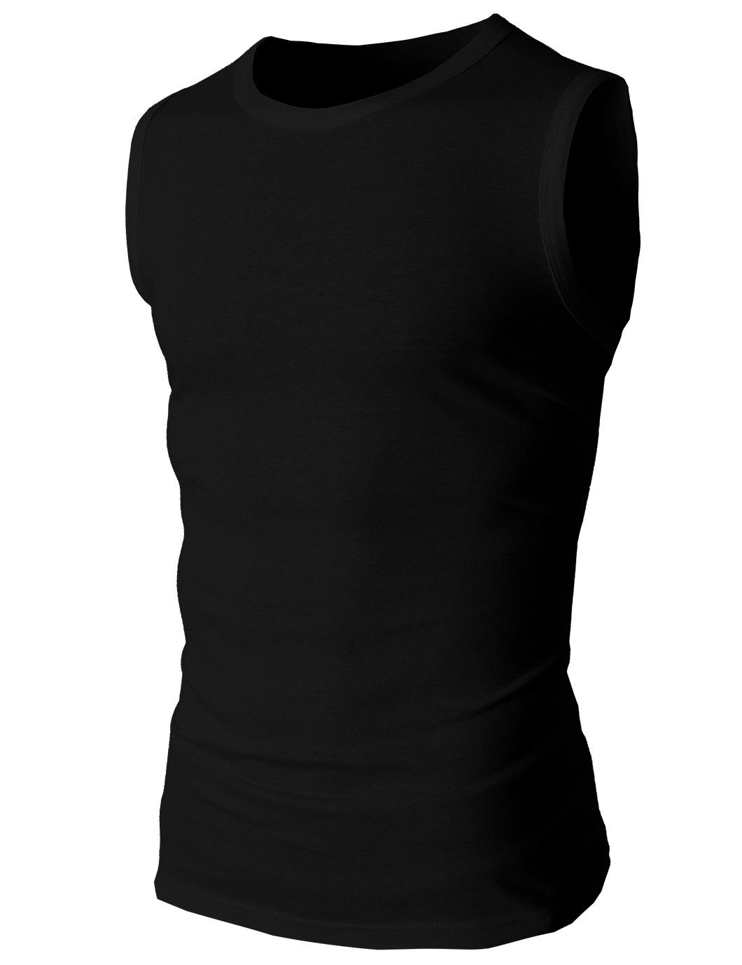 f487ab8fac8dfc Mens Sleeveless Crewneck Solid Color Slim Fit Tank Top Style no    Lightweight