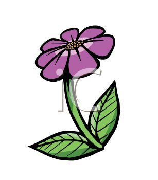 Cartoon of a Violet Flower