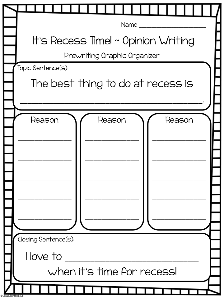 Ccss 4th grade opinion writing activities