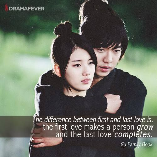 The Difference Between First And Last Love Is The First Makes A Person Grow And  C B Gu Family Bookskdramakorean Drama Quoteskorean