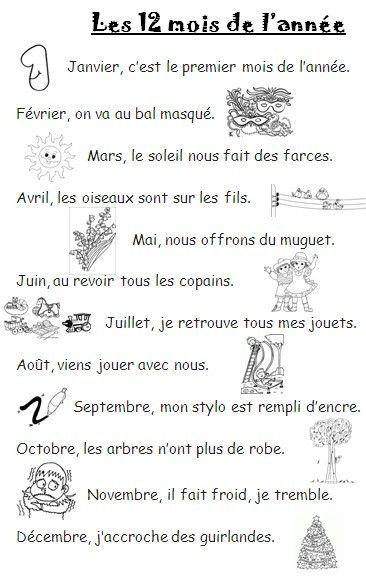 Souvent 12 mois dans l'année | CE1 français | Pinterest | Annee, Activité  DZ31